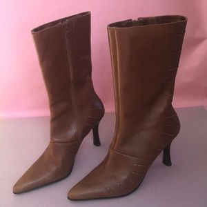 54b9107830229 Vintage caramel Two Lips leather boots